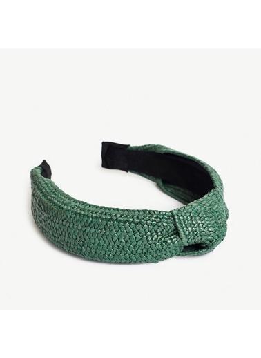 Yargıcı Düğüm Detaylı Hasır Taç Yeşil